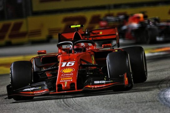 Charles Leclerc (MON) Ferrari SF90. 22.09.2019. Formula 1 World Championship, Rd 15, Singapore Grand Prix, Marina Bay Street Circuit, Singapore, Race Day. - www.xpbimages.com, EMail: requests@xpbimages.com - copy of publication required for printed pictures. Every used picture is fee-liable. © Copyright: Moy / XPB Images