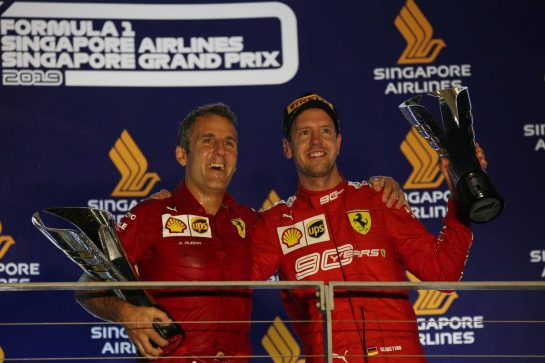 1st place Sebastian Vettel (GER) Ferrari SF90.22.09.2019. Formula 1 World Championship, Rd 15, Singapore Grand Prix, Marina Bay Street Circuit, Singapore, Race Day.- www.xpbimages.com, EMail: requests@xpbimages.com - copy of publication required for printed pictures. Every used picture is fee-liable. © Copyright: Batchelor / XPB Images