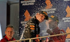 Verstappen happy to finish on podium in Singapore