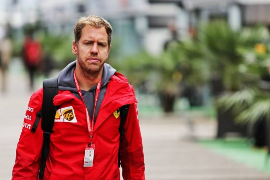Sebastian Vettel (GER) Ferrari. 26.09.2019. Formula 1 World Championship, Rd 16, Russian Grand Prix, Sochi Autodrom, Sochi, Russia, Preparation Day.  - www.xpbimages.com, EMail: requests@xpbimages.com - copy of publication required for printed pictures. Every used picture is fee-liable. © Copyright: Filipe / XPB Images