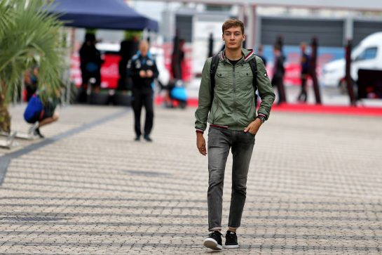 George Russell (GBR) Williams Racing. 26.09.2019. Formula 1 World Championship, Rd 16, Russian Grand Prix, Sochi Autodrom, Sochi, Russia, Preparation Day.  - www.xpbimages.com, EMail: requests@xpbimages.com - copy of publication required for printed pictures. Every used picture is fee-liable. © Copyright: Filipe / XPB Images