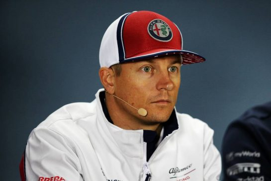 Kimi Raikkonen (FIN) Alfa Romeo Racing in the FIA Press Conference. 26.09.2019. Formula 1 World Championship, Rd 16, Russian Grand Prix, Sochi Autodrom, Sochi, Russia, Preparation Day.  - www.xpbimages.com, EMail: requests@xpbimages.com - copy of publication required for printed pictures. Every used picture is fee-liable. © Copyright: Filipe / XPB Images