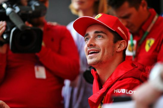 Charles Leclerc (MON) Ferrari at the Fanzone. 26.09.2019. Formula 1 World Championship, Rd 16, Russian Grand Prix, Sochi Autodrom, Sochi, Russia, Preparation Day.  - www.xpbimages.com, EMail: requests@xpbimages.com - copy of publication required for printed pictures. Every used picture is fee-liable. © Copyright: Filipe / XPB Images
