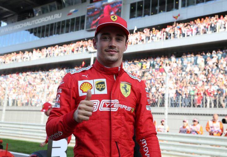 Pole position for Charles Leclerc (MON) Ferrari SF90.
