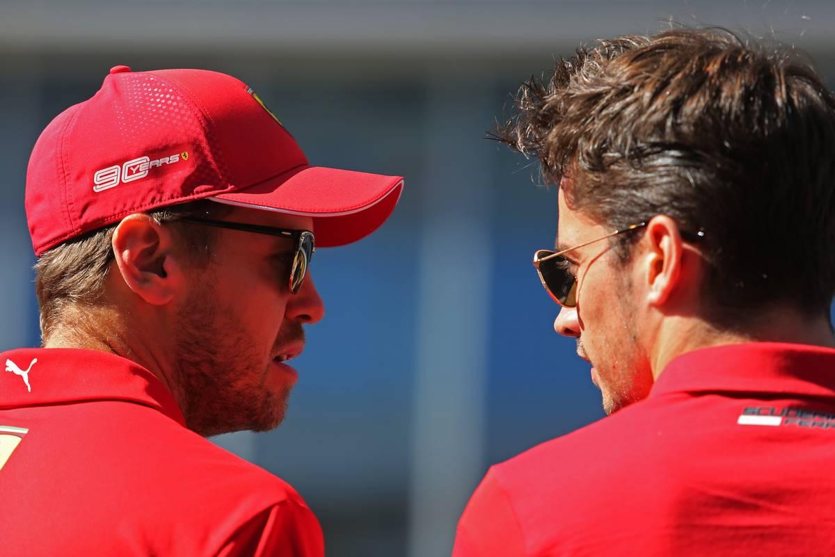 Sebastian Vettel (GER), Scuderia Ferrari and Charles Leclerc (FRA), Scuderia Ferrari