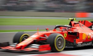 Leclerc keeps Ferrari on top in damp-to-dry final practice