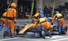 Lando Norris (GBR), McLaren F1 Team during pitstop