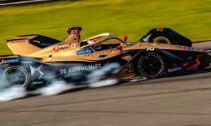Jean-Eric Vergne locks up during Formula E pre-season testing.
