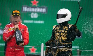 Vettel no fan of 'selfie guy' and 'shitty trophies' on F1 podium