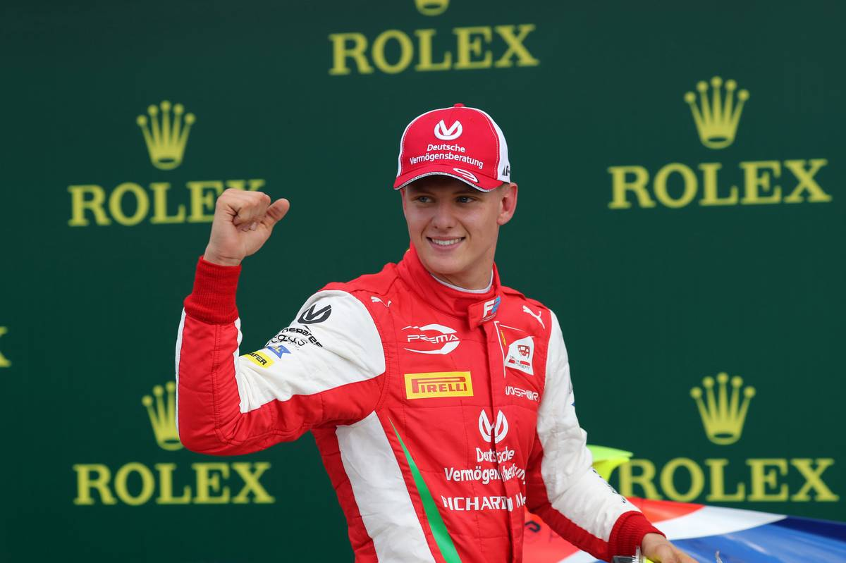 Race 2, Mick Schumacher (GER) PREMA Racing race winner