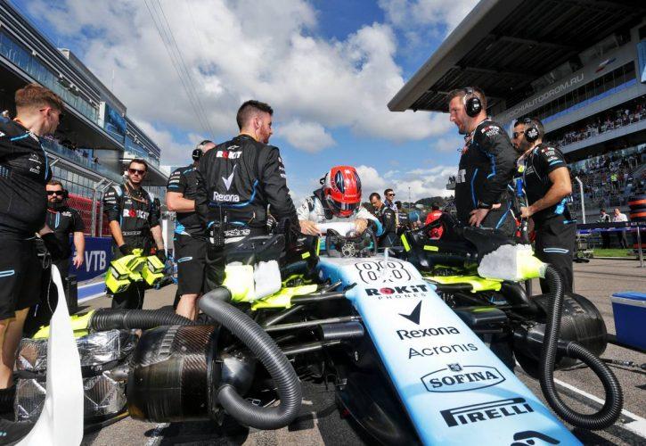 Robert Kubica (POL) Williams Racing FW42 on the grid.