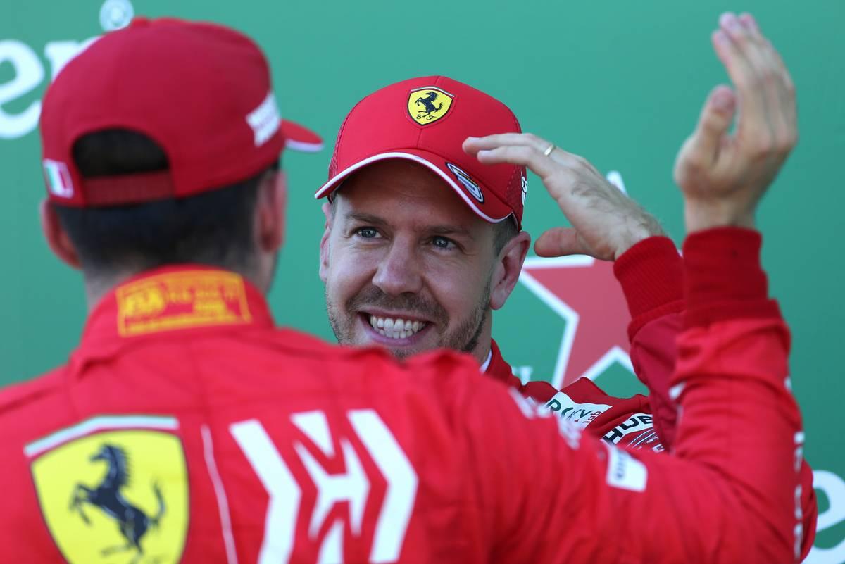 Sebastian Vettel (GER), Scuderia Ferrari and Charles Leclerc (FRA), Scuderia Ferrari  13.10.2019