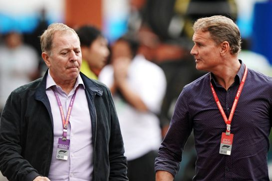 (L to R): Martin Brundle (GBR) Sky Sports Commentator with David Coulthard (GBR) Red Bull Racing and Scuderia Toro Advisor / Channel 4 F1 Commentator. 24.10.2019. Formula 1 World Championship, Rd 18, Mexican Grand Prix, Mexico City, Mexico, Preparation Day.  - www.xpbimages.com, EMail: requests@xpbimages.com © Copyright: Dungan / XPB Images
