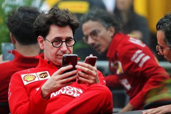 Mattia Binotto (ITA) Ferrari Team Principal. 24.10.2019. Formula 1 World Championship, Rd 18, Mexican Grand Prix, Mexico City, Mexico, Preparation Day. - www.xpbimages.com, EMail: requests@xpbimages.com © Copyright: Batchelor / XPB Images