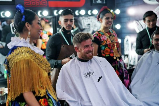 Paddock atmosphere - barbershop.      24.10.2019. Formula 1 World Championship, Rd 18, Mexican Grand Prix, Mexico City, Mexico, Preparation Day.  - www.xpbimages.com, EMail: requests@xpbimages.com © Copyright: Dungan / XPB Images
