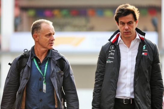 Toto Wolff (GER) Mercedes AMG F1 Shareholder and Executive Director (Right). 25.10.2019. Formula 1 World Championship, Rd 18, Mexican Grand Prix, Mexico City, Mexico, Practice Day. - www.xpbimages.com, EMail: requests@xpbimages.com © Copyright: Batchelor / XPB Images