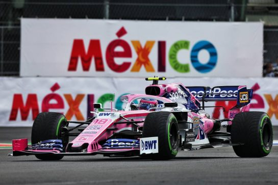 Lance Stroll (CDN) Racing Point F1 Team RP19. 25.10.2019. Formula 1 World Championship, Rd 18, Mexican Grand Prix, Mexico City, Mexico, Practice Day. - www.xpbimages.com, EMail: requests@xpbimages.com © Copyright: Moy / XPB Images