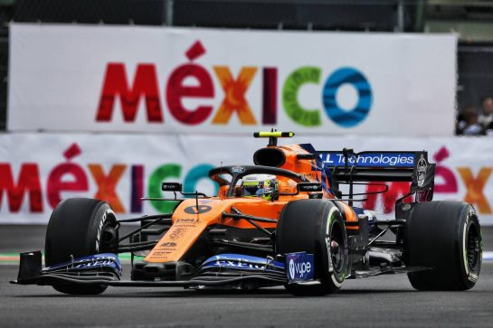 Lando Norris (GBR) McLaren MCL34. 25.10.2019. Formula 1 World Championship, Rd 18, Mexican Grand Prix, Mexico City, Mexico, Practice Day. - www.xpbimages.com, EMail: requests@xpbimages.com © Copyright: Moy / XPB Images