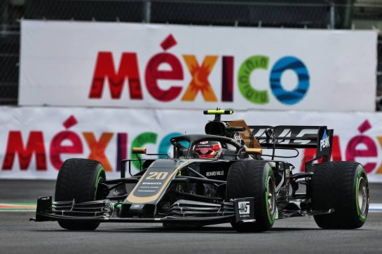 Kevin Magnussen (DEN) Haas VF-19. 25.10.2019. Formula 1 World Championship, Rd 18, Mexican Grand Prix, Mexico City, Mexico, Practice Day. - www.xpbimages.com, EMail: requests@xpbimages.com © Copyright: Moy / XPB Images