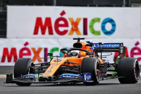 Carlos Sainz Jr (ESP) McLaren MCL34. 25.10.2019. Formula 1 World Championship, Rd 18, Mexican Grand Prix, Mexico City, Mexico, Practice Day. - www.xpbimages.com, EMail: requests@xpbimages.com © Copyright: Moy / XPB Images
