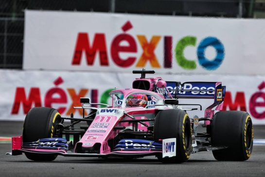 Sergio Perez (MEX) Racing Point F1 Team RP19. 25.10.2019. Formula 1 World Championship, Rd 18, Mexican Grand Prix, Mexico City, Mexico, Practice Day. - www.xpbimages.com, EMail: requests@xpbimages.com © Copyright: Moy / XPB Images