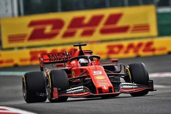 Sebastian Vettel (GER) Ferrari SF90.                                25.10.2019. Formula 1 World Championship, Rd 18, Mexican Grand Prix, Mexico City, Mexico, Practice Day.  - www.xpbimages.com, EMail: requests@xpbimages.com © Copyright: Dungan / XPB Images