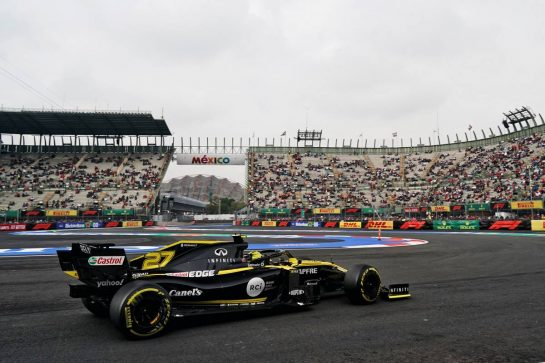Nico Hulkenberg (GER) Renault F1 Team RS19.                                25.10.2019. Formula 1 World Championship, Rd 18, Mexican Grand Prix, Mexico City, Mexico, Practice Day.  - www.xpbimages.com, EMail: requests@xpbimages.com © Copyright: Dungan / XPB Images