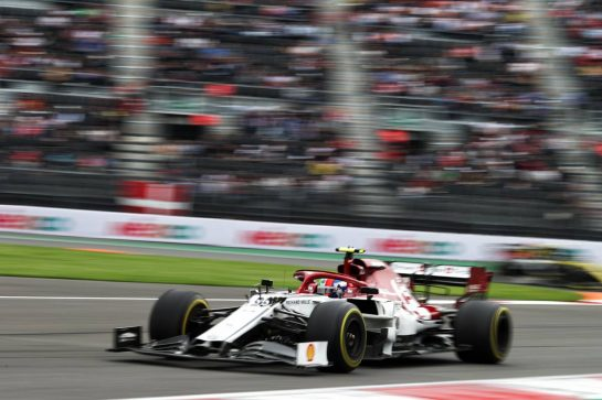 Antonio Giovinazzi (ITA) Alfa Romeo Racing C38. 25.10.2019. Formula 1 World Championship, Rd 18, Mexican Grand Prix, Mexico City, Mexico, Practice Day.  - www.xpbimages.com, EMail: requests@xpbimages.com © Copyright: Bearne / XPB Images