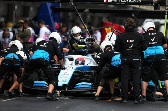 Robert Kubica (POL) Williams Racing FW42 practices a pit stop. 26.10.2019. Formula 1 World Championship, Rd 18, Mexican Grand Prix, Mexico City, Mexico, Qualifying Day. - www.xpbimages.com, EMail: requests@xpbimages.com © Copyright: Moy / XPB Images