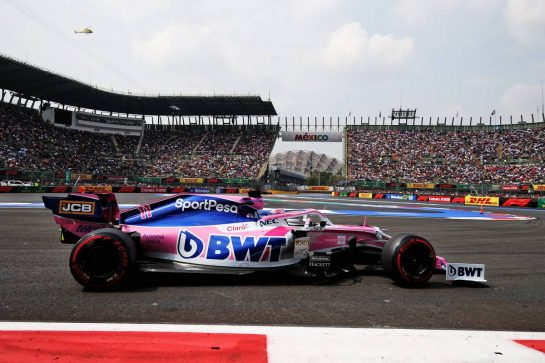 Sergio Perez (MEX) Racing Point F1 Team RP19. 26.10.2019. Formula 1 World Championship, Rd 18, Mexican Grand Prix, Mexico City, Mexico, Qualifying Day. - www.xpbimages.com, EMail: requests@xpbimages.com © Copyright: Moy / XPB Images