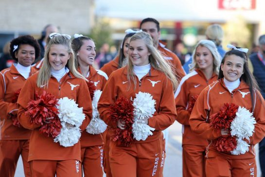 Texas Longhorn Cheerleaders.