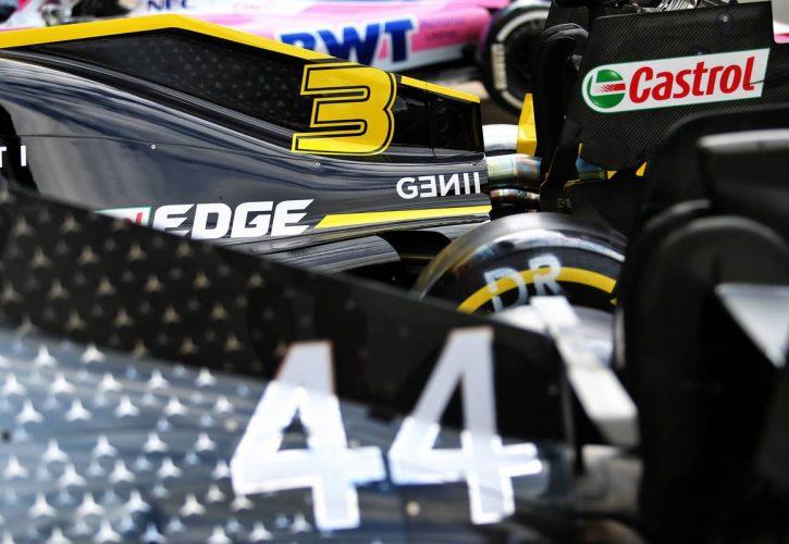 Renault F1 Team RS19 engine cover of Daniel Ricciardo (AUS).