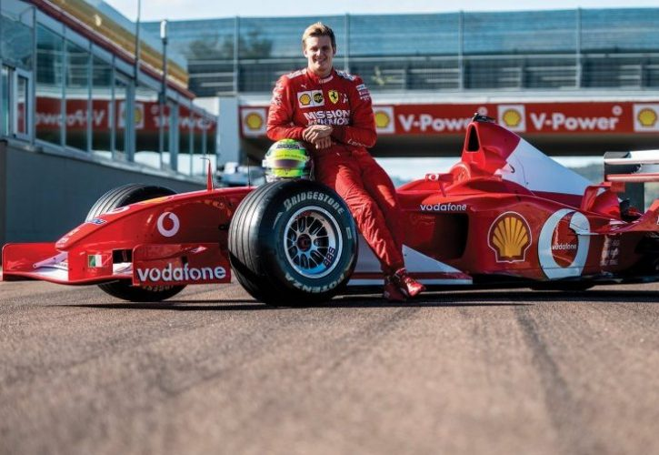 Video Mick Schumacher Drives Father S F2002 At Fiorano