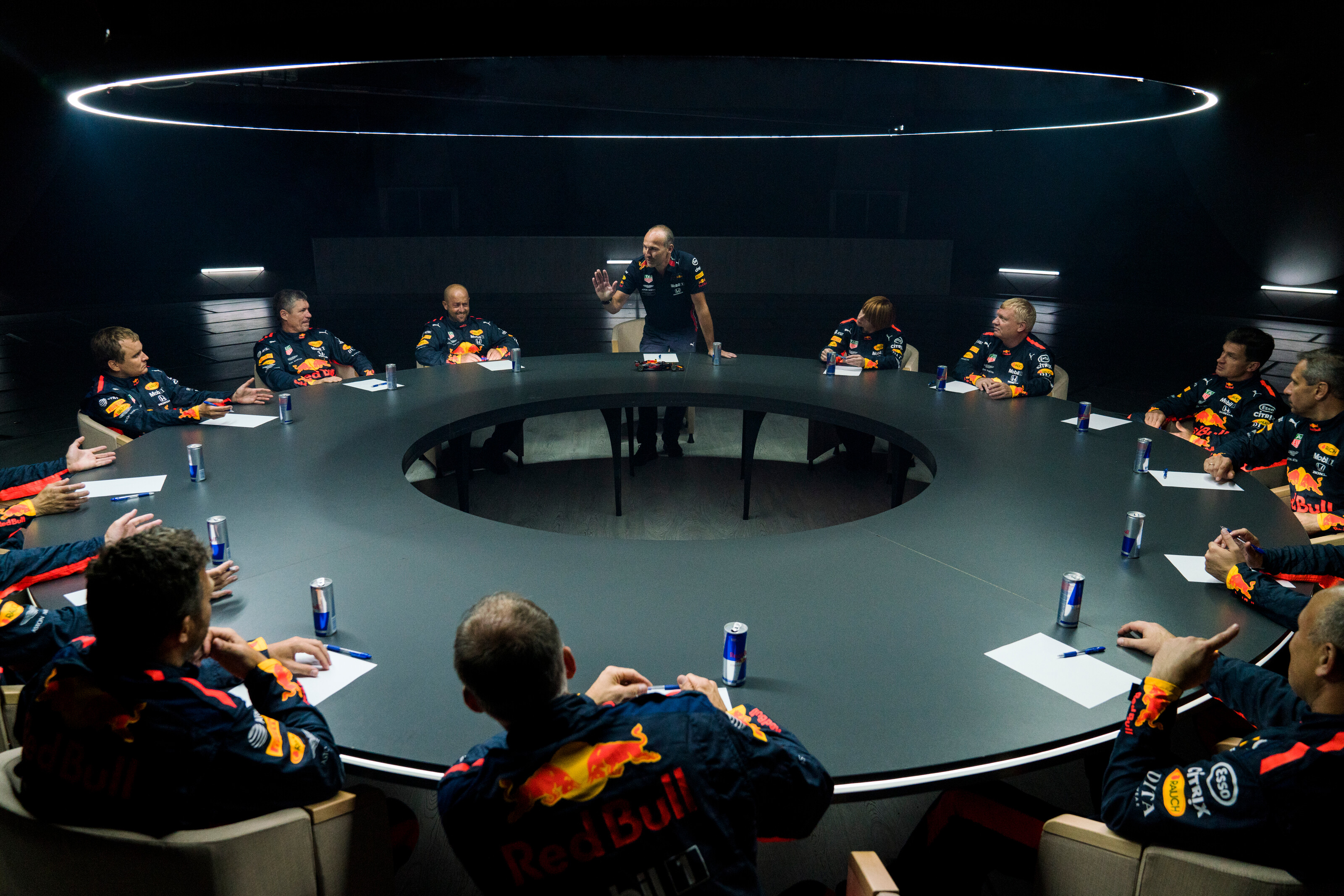 Red Bull Racing just did a pit stop in zero gravity