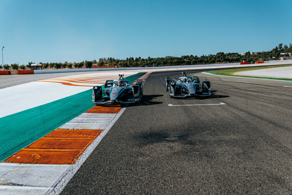 Mercedes-Benz EQ Formula E Team on track.