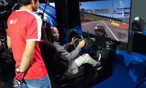 Hamilton races the pros at Gran Turismo World Finals