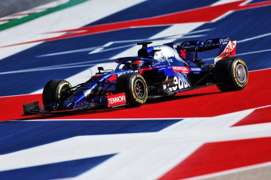 Daniil Kvyat (RUS) Scuderia Toro Rosso STR14 spins in the second practice session.