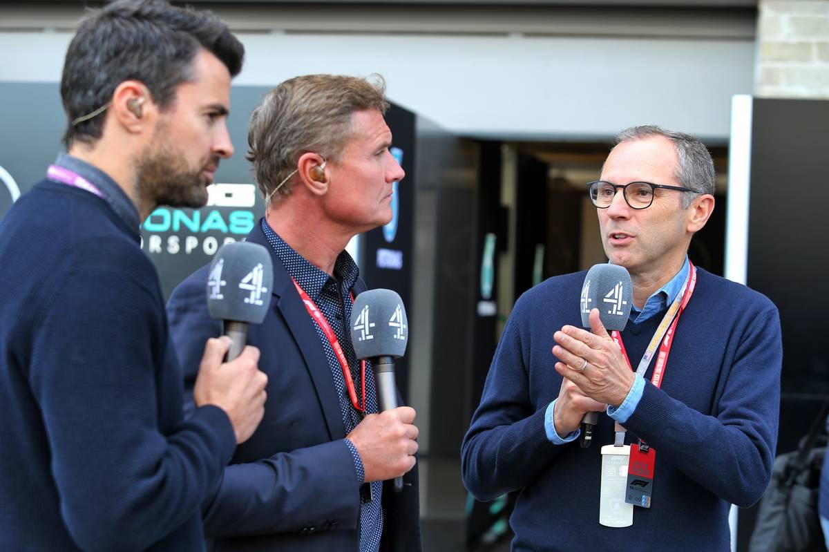 Steve Jones (GBR) Channel 4 F1 Presenter; David Coulthard (GBR) Red Bull Racing and Scuderia Toro Advisor / Channel 4 F1 Commentator; Stefano Domenicali (ITA) FIA Single-Seater Commission President.