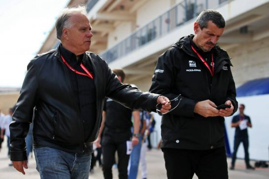 (L to R): Gene Haas (USA) Haas Automotion President with Guenther Steiner (ITA) Haas F1 Team Prinicipal. 03.11.2019. Formula 1 World Championship, Rd 19, United States Grand Prix, Austin, Texas, USA, Race Day. - www.xpbimages.com, EMail: requests@xpbimages.com © Copyright: Batchelor / XPB Images