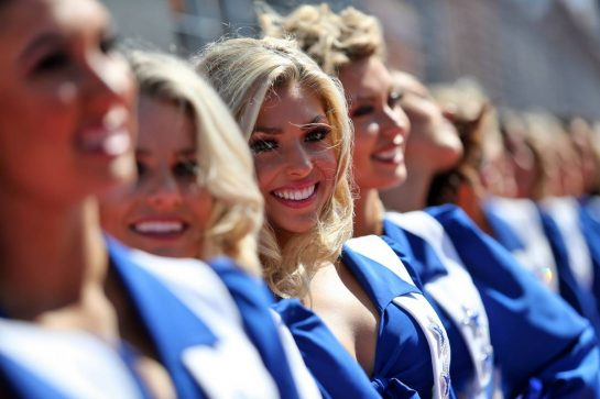 Dallas Cowboys Cheerleaders on the drivers parade.