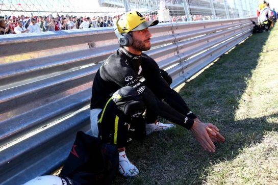 Daniel Ricciardo (AUS) Renault Sport F1 Team RS19. 03.11.2019. Formula 1 World Championship, Rd 19, United States Grand Prix, Austin, Texas, USA, Race Day. - www.xpbimages.com, EMail: requests@xpbimages.com © Copyright: Batchelor / XPB Images