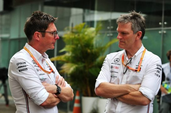(L to R): Andrew Shovlin (GBR) Mercedes AMG F1 Engineer with James Allison (GBR) Mercedes AMG F1 Technical Director.