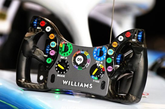 Williams Racing FW42 steering wheel.