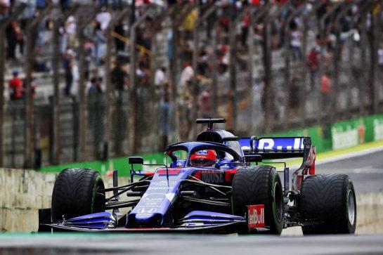 Daniil Kvyat (RUS) Scuderia Toro Rosso STR14. 15.11.2019. Formula 1 World Championship, Rd 20, Brazilian Grand Prix, Sao Paulo, Brazil, Practice Day. - www.xpbimages.com, EMail: requests@xpbimages.com © Copyright: Batchelor / XPB Images