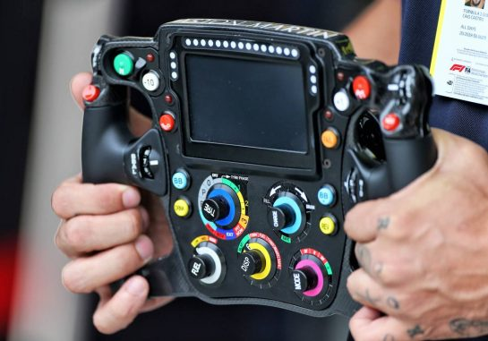 Red Bull Racing steering wheel.