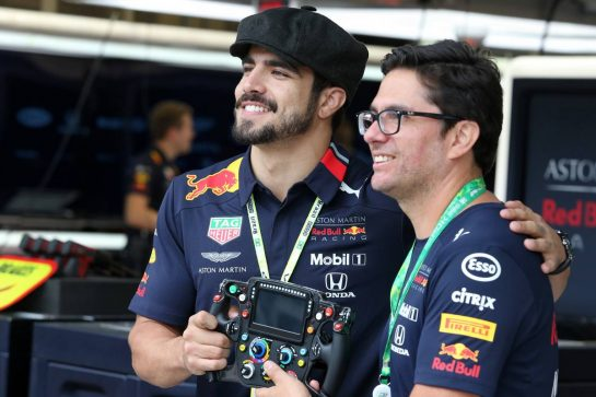 Caio Castro (BRA) Actor (Left), guest of Red Bull Racing.