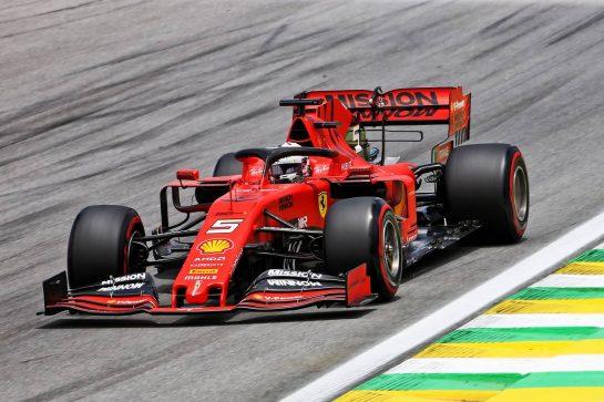 Sebastian Vettel (GER) Ferrari SF90. 16.11.2019. Formula 1 World Championship, Rd 20, Brazilian Grand Prix, Sao Paulo, Brazil, Qualifying Day. - www.xpbimages.com, EMail: requests@xpbimages.com © Copyright: Charniaux / XPB Images