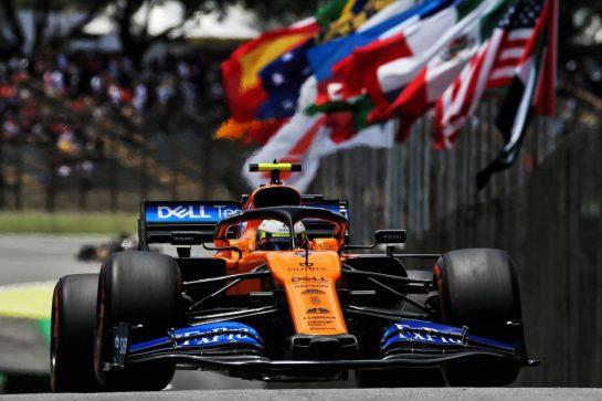 Lando Norris (GBR) McLaren MCL34. 16.11.2019. Formula 1 World Championship, Rd 20, Brazilian Grand Prix, Sao Paulo, Brazil, Qualifying Day. - www.xpbimages.com, EMail: requests@xpbimages.com © Copyright: Batchelor / XPB Images