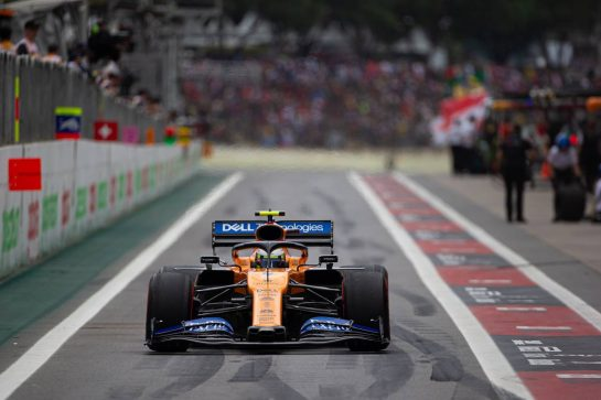 Lando Norris (GBR) McLaren MCL34. 16.11.2019. Formula 1 World Championship, Rd 20, Brazilian Grand Prix, Sao Paulo, Brazil, Qualifying Day.  - www.xpbimages.com, EMail: requests@xpbimages.com © Copyright: Bearne / XPB Images