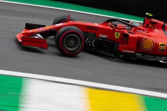 Charles Leclerc (MON) Ferrari SF90. 16.11.2019. Formula 1 World Championship, Rd 20, Brazilian Grand Prix, Sao Paulo, Brazil, Qualifying Day.  - www.xpbimages.com, EMail: requests@xpbimages.com © Copyright: Bearne / XPB Images